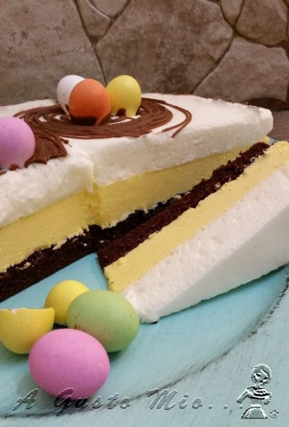 Torta cremosa Happy Easter 02